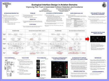Ecological Interface Design in Aviation Domains Improving Pilot Trust in Automated Collision Detection and Avoidance Advanced Interface Design Laboratory.