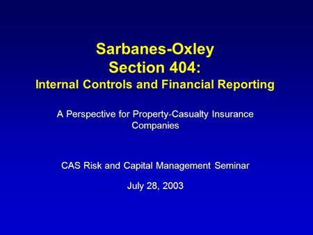 Effect of internal controls on financial