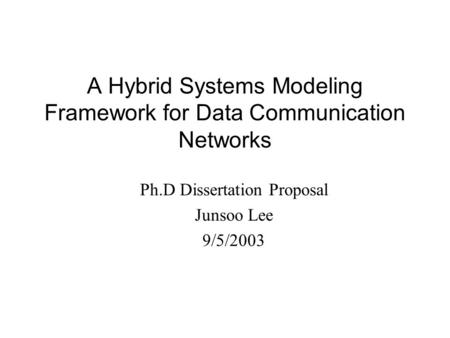 Communication Dissertation Proposal