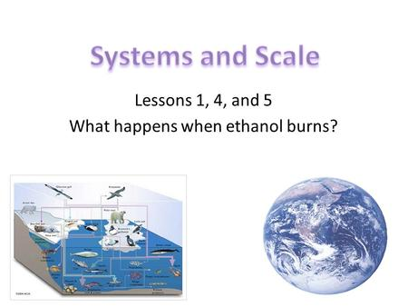 Lessons 1, 4, and 5 What happens when ethanol burns?