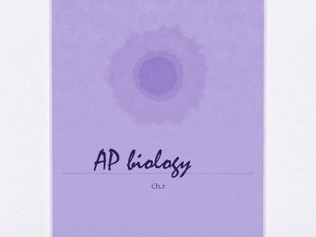 AP biology Ch.1. Why is AP biology the best class ever?? What you need to know about: The class The test Understanding the scope and relativity.