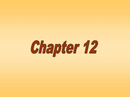 Chapter Twelve. Defining some terms censusPopulation ElementsSample.