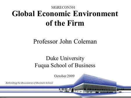 Global economy and the environment
