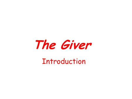 The Giver Introduction. Science fiction stories take place in a fantasized place or time. They can be set on another planet or on Earth in the past, present,