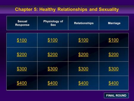 Chapter 5: Healthy Relationships and Sexuality