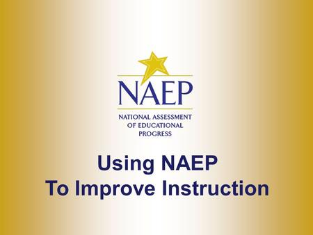 Using NAEP To Improve Instruction. Instructional Strategies.