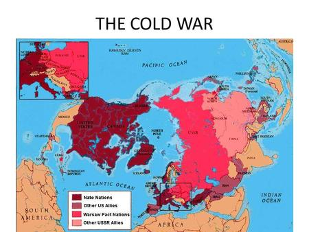 THE COLD WAR. V. The Cold War A. After World War II, the world was left with two _______________________ (United States and the ______________ __________________).