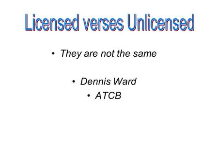 They are not the same Dennis Ward ATCB. The FCC has a requirement that Applications for certification through the TCB program must contain test reports.