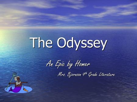 the odyssey an epic