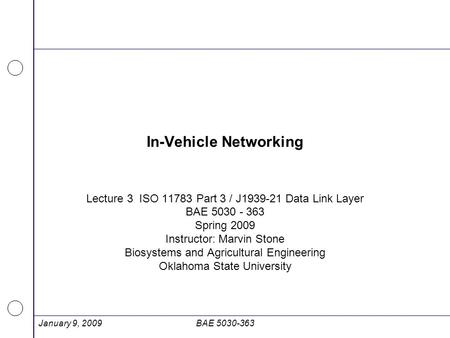 In-Vehicle Networking