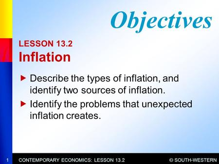an analysis of the economic objectives of inflation The primary objective of central banks is to manage inflation the second is to reduce unemployment, but only after they have controlled inflation they use expansionary monetary policy to lower unemployment and avoid recession they lower interest rates, buy securities from member banks and.