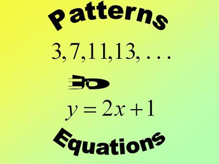 Find the next three terms in the pattern: 1, 4, 7,...
