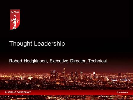 Robert Hodgkinson, Executive Director, Technical Thought Leadership.