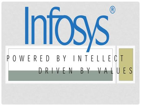  Infosys Limited (NASDAQ: INFY) was started in 1981 by seven people with US$ 250. Today, we are a global leader in consulting, technology and outsourcing.