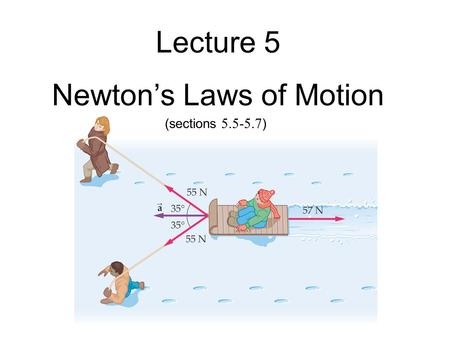 Lecture 5 Newton's Laws of Motion (sections 5.5-5.7 )