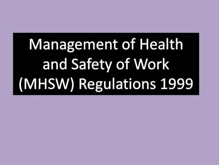Two of the most important pieces of the health and safety legislation affecting educational establishments across the UK are the Health and Safety at.