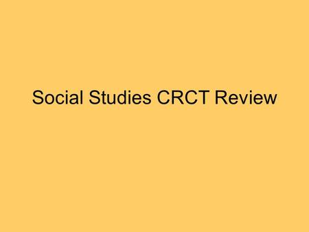 Social Studies CRCT Review. –Mary McLeod Bethune: How did she help improve education opportunities for all students? –She encouraged people to Invest.