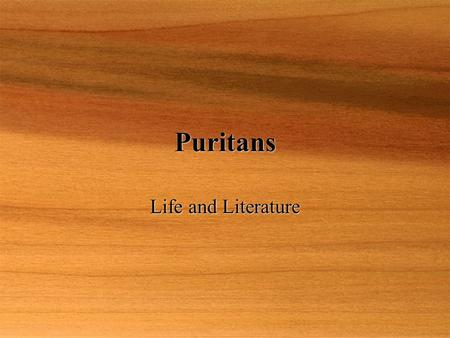 a review of the the puritans life and beliefs Life among the puritans gr 4-8-life in plymouth colony and the an epilogue outlines the ways in which aspects of puritan belief and behavior have.