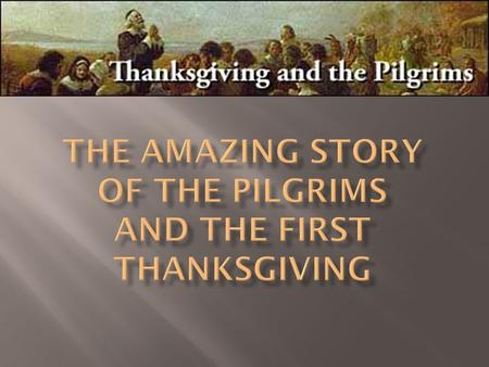  Severe illness came to the Mayflower Pilgrims. They prayed. A storm came that broke their wine casks and wine splashed everywhere.  As they mopped.