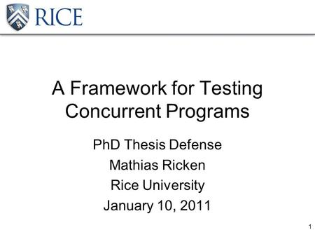 rice thesis defense
