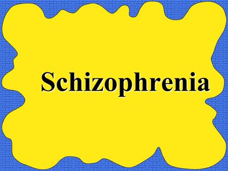Schizophrenia. Schizophrenia The MOST serious of all psychological disorders. Loss of contact with reality Can make it impossible for a person to function.