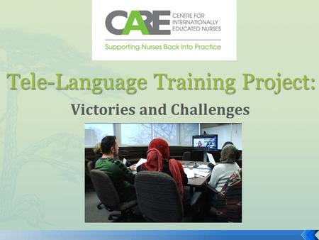 Tele-Language Training Project: Victories and Challenges.