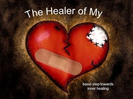Basic step towards inner healing. We are triune beings Spirit Soul Body (mind, emotions, will)