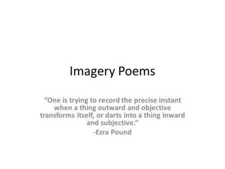 Modern, Post-Modern, & Contemporary Poetry - ppt download