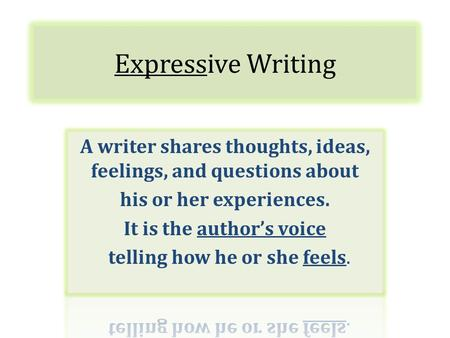 Expressive Writing. Six-Word Memoir Express the state of your life in only six words.