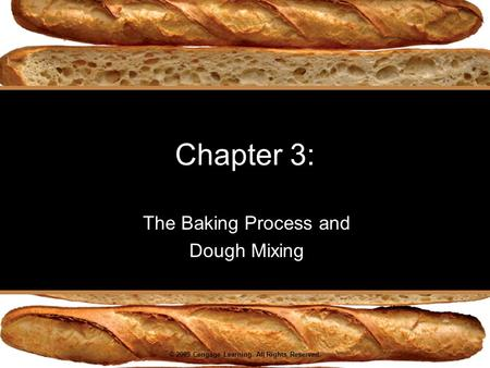 © 2009 Cengage Learning. All Rights Reserved. Chapter 3: The Baking Process and Dough Mixing.