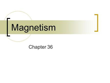 Magnetism Chapter 36. What is a Magnet? Material or object that produces a magnetic field. Two types:  Permanent  Electromagnet.