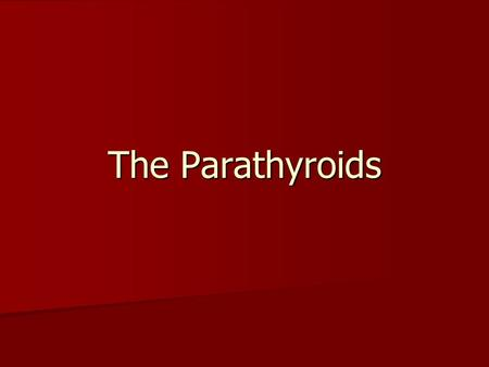 The Parathyroids. Functional Anatomy Are characteristically located adjacent and posterior to the thyroid gland. Are characteristically located adjacent.