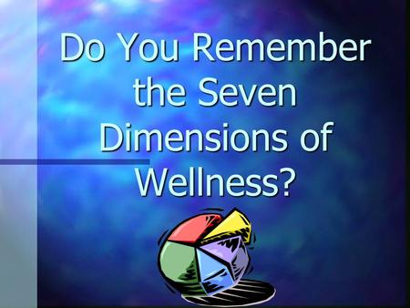 Do You Remember the Seven Dimensions of Wellness?.