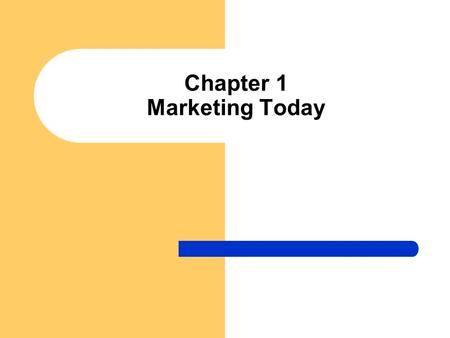 Chapter 1 Marketing Today