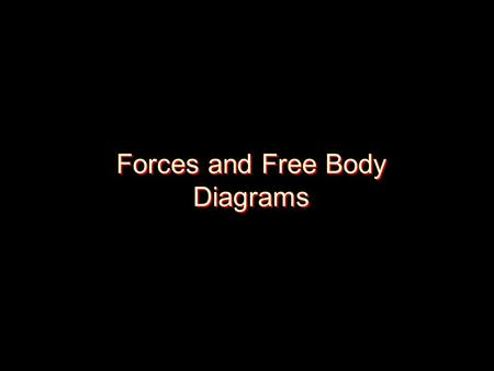 Forces and Free Body Diagrams. Common Forces Gravity- attractive force between two objects that have mass. AKA Weight To calculate Weight: –Force of Gravity.