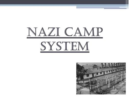 Nazi Camp System. Prisoners of the Camp Prisoners were required to wear color-coded triangles on their jackets and letters so that the guards of the camps.