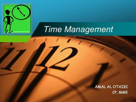 Company LOGO Time Management AMAL AL OTAIBI CP, MME.