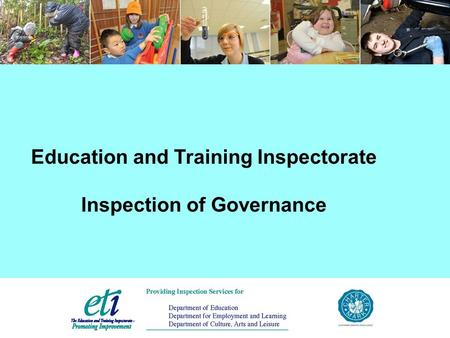 Education and Training Inspectorate Inspection of Governance.
