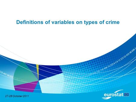 27-28 October 2011 Definitions of variables on types of crime.