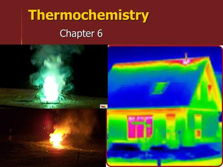 Thermochemistry Chapter 6. The Nature of Energy Energy is the capacity to do work or produce heat. Energy is the capacity to do work or produce heat.