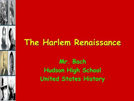 a history of the harlem renaissance in the united states Find 26 facts about the harlem renaissance for kids the history of the 1920's harlem renaissance, the events, quotes, people and jazz music interesting facts about.