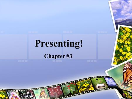 Presenting! Chapter #3. What are we Going to Cover Today? Nuts / Bolts Get to the Meat & Potatoes The Summary of the Chapter Q & A.