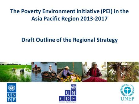 The Poverty Environment Initiative (PEI) in the Asia Pacific Region 2013-2017 Draft Outline of the Regional Strategy.