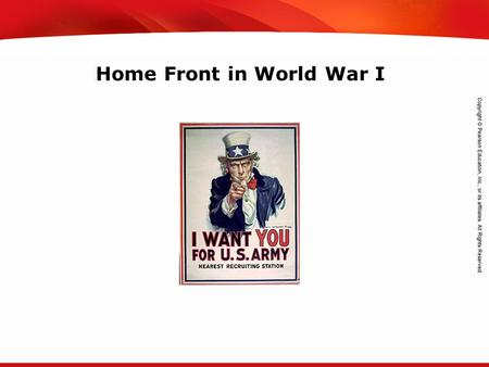 TEKS 8C: Calculate percent composition and empirical and molecular formulas. Home Front in World War I.