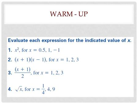 WARM - UP. SECTION 1.1 INDUCTIVE REASONING GEOMETRY.