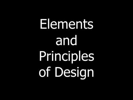 Elements and Principles of Design. The elements of design are the building blocks used to create an artwork. The principles are ideas that incorporate.
