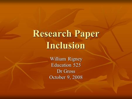research paper inclusion education The audience i will be targeting for this research paper are mainly parents despite the demonstrated benefits of inclusive education and the mandates that.