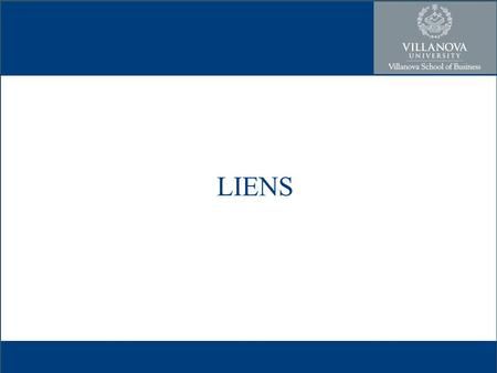 LIENS. Encumbrance- anything that affects the title of property Transfer Lien- a form of security interest in an item of property to secure the payment.