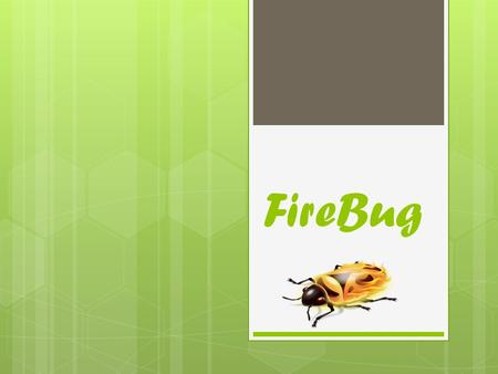 FireBug. What is Firebug?  Firebug is a powerful tool that allows you to edit HTML, CSS and view the coding behind any website: CSS, HTML, DOM and JavaScript.