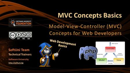 MVC Concepts Basics Model-View-Controller (MVC) Concepts for Web Developers SoftUni Team Technical Trainers Software University
